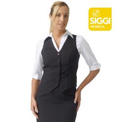 MIRELLA Gilet de service femme polyester noir