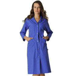 SANDRA Blouse de travail femme manches longues bleu