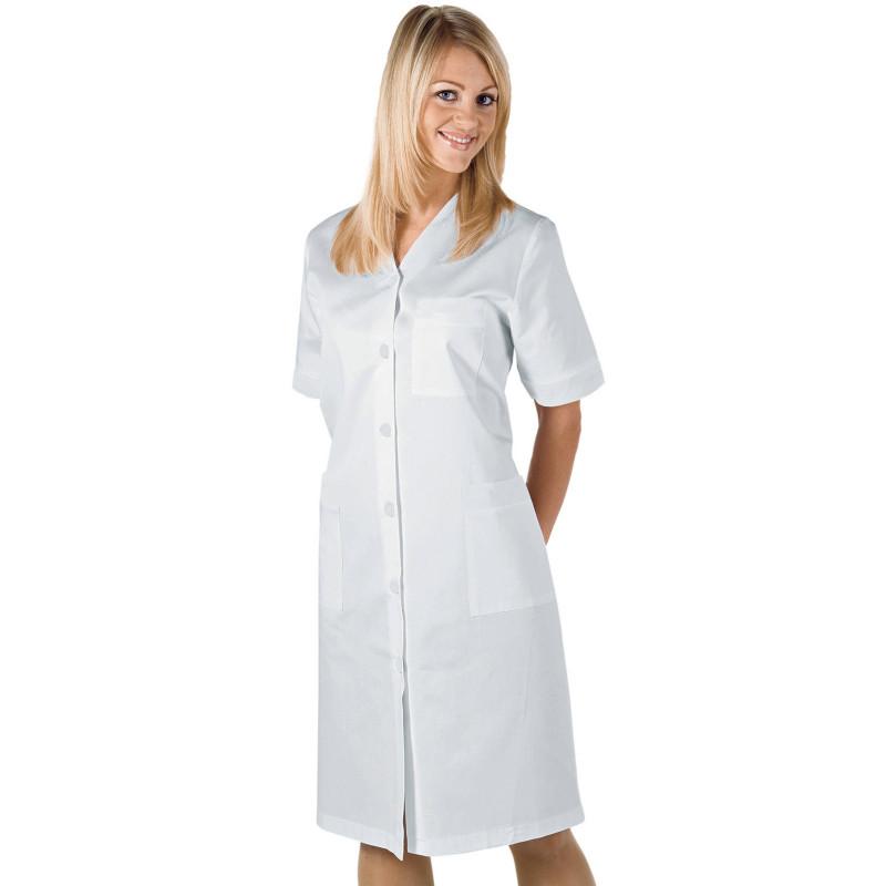 MICHELLE Blouse médicale blanche femme manches courtes