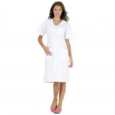 LAURENE Blouse médicale couleur femme manches courtes