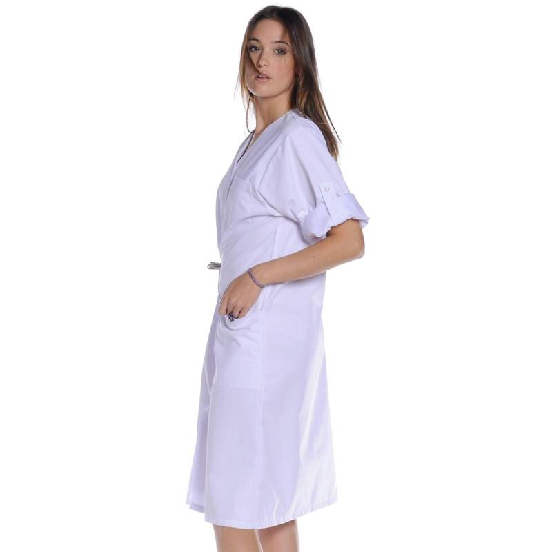 NINETTE Blouse médicale manches longues coton femme