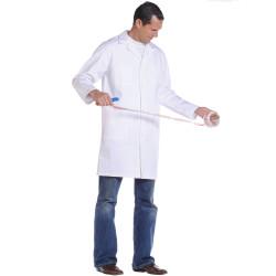 BOY Blouse de travail homme en coton à boutons blanc