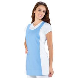 PAPEETE Chasuble de travail coton couleurs multiples bleu blanc