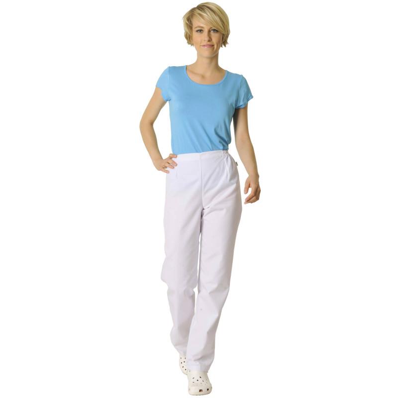 VICTOR Pantalon médical Femme ventre plat blanc