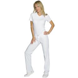 PANTAJERSEY Pantalon de travail femme blanc