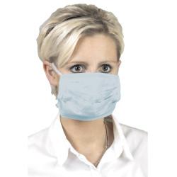 Masque chirurgical 3 plis, bleu avec élastique (boite de 50 pièces) lot de 20 boites