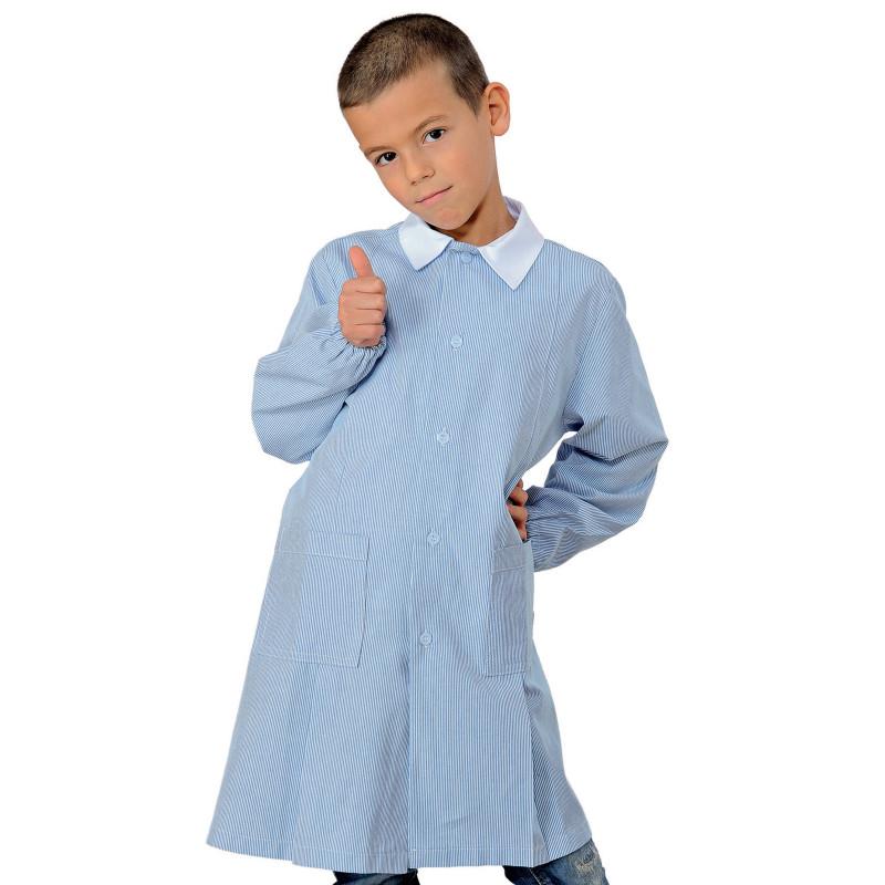 POLLICINO Blouse enfant  mixte 3-6 ans rayée azur