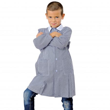 POLLICINO Blouse enfant mixte 3-6 ans quadrillée bleu