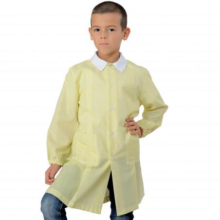 POLLICINO Blouse enfant mixte 3-6 ans quadrillée jaune