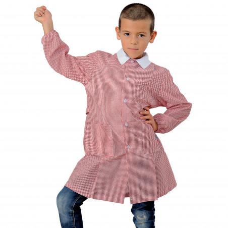 POLLICINO Blouse enfant mixte 3-6 ans quadrillée rouge