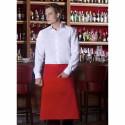 BASIK POCHE tablier de bistro polycoton rouge