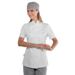 LADY CHEF Veste de chef de cuisine femme manches courtes