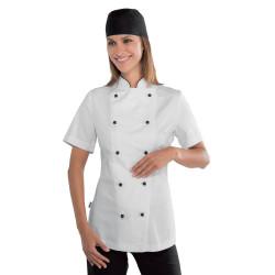 LADY GRANCHEF Veste de chef cuisinière en coton à manches courtes