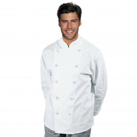 FISSI Veste de cuisine homme manches longues