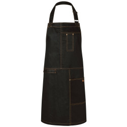 URBAN CASUAL-STYLE Tablier bavette 100% coton noir