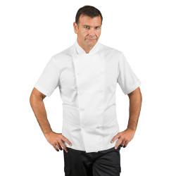 FISSI Veste de cuisine homme à manches courtes