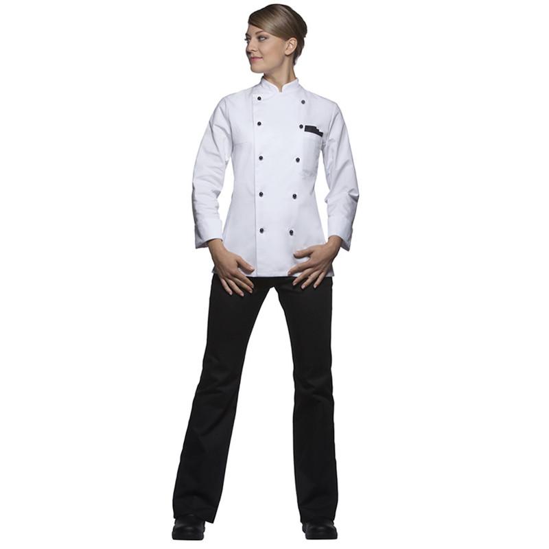 Veste Cuisine Femme Manches Longues Coton Agathe Bga Vetements