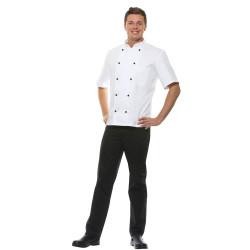 LENNERT Veste de cuisine homme manches longues 100% coton blanc