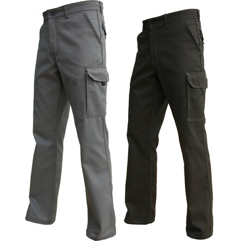 Pantalon TYPHON noir ou gris sans métal