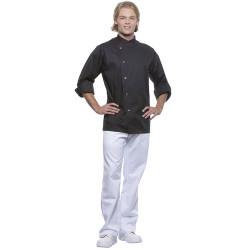 LARS Veste de cuisine homme manches longues en polycoton