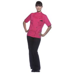 GRETA Veste de cuisine femme manches courtes