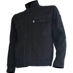 TYPHON blouson de travail majorité coton noir sans métal