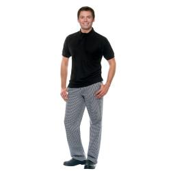 MAILAND Pantalon de cuisine pied de poule coton
