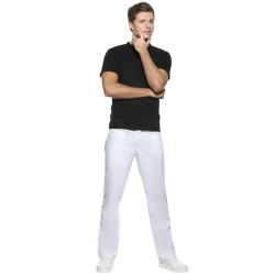 MANOLO Pantalon de service homme polycoton blanc