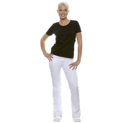 TINA Pantalon de service femme stretch blanc