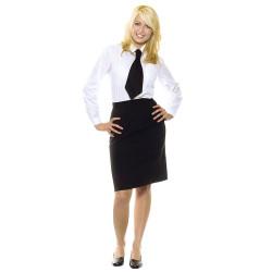 BASIC Jupe de service femme en polyester
