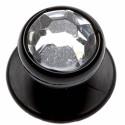 BASILE lot de 12 boutons pour veste de cuisine noir argent