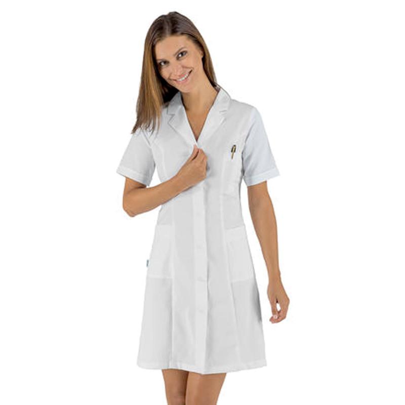 SATIN Blouse médicale femme manches courtes sans repassage