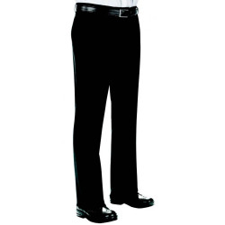 SUPER FRESH Pantalon de service sans pince en polyester noir