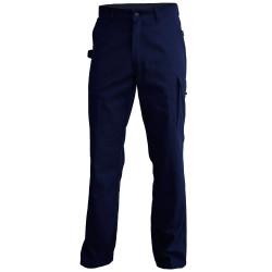 TYPHON Pantalon de travail polycoton sans partie métallique marine PBV