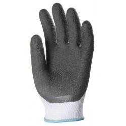 Lot 10 paires de gants coton tricoté enduit latex