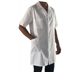 Blouse Homme Blanche Mc  A Pressions Inox