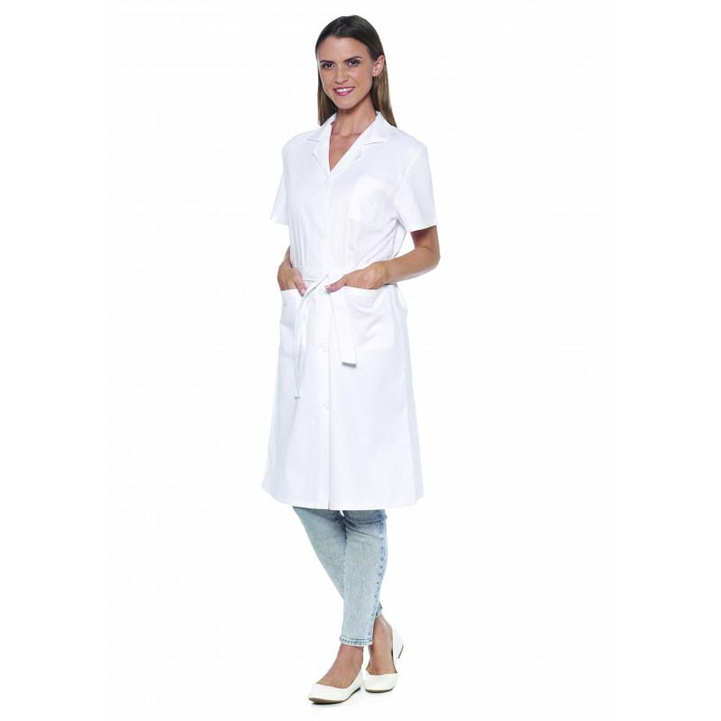 JULIE Blouse médicale blanche femme manches courtes