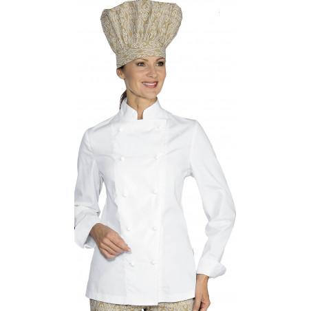 Veste de cuisine polycoton LADY LIGHT femme