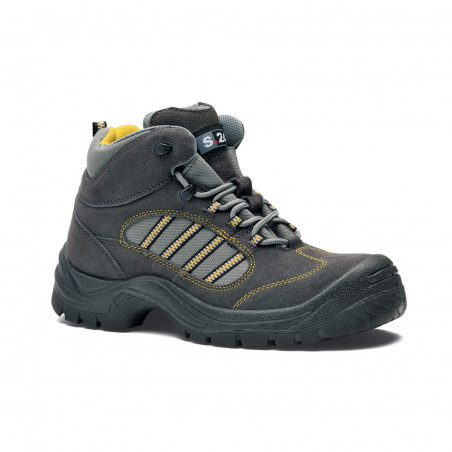 JET Chaussures de sécurité hautes pour homme en velours et toile S24