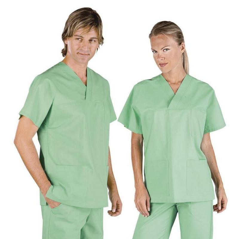 Tunique médicale mixte coton SOLE Vert clair