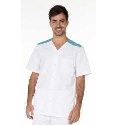 VALENTIN Tunique médicale homme manches courtes