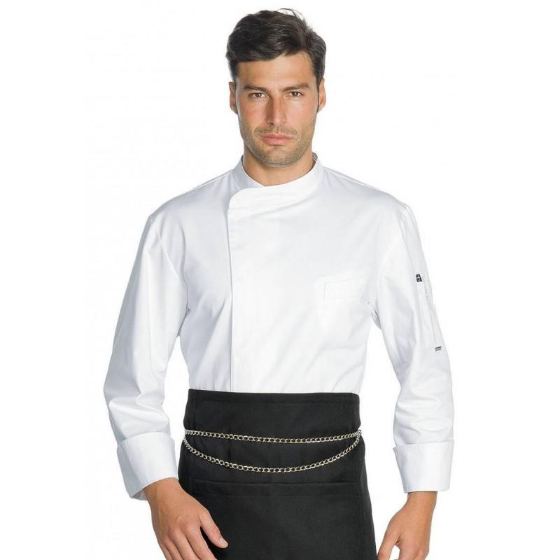 MADISON Veste de cuisine manches longues blanche coton ISACCO