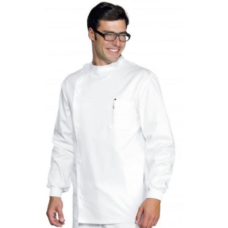 """Tunique médicale """"DENTISTE"""" poignets tricots"""