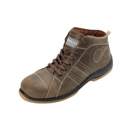 CHARLES chaussures de sécurité Cuir vieilli, hydrofugé S3 haute NORDWAYS DESTOCKEES