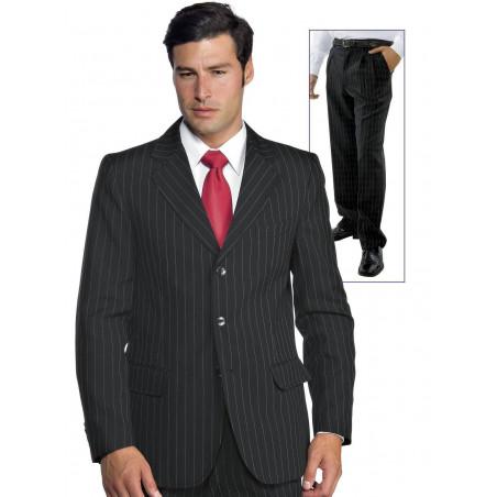 Costume de travail homme avec pantalon à pinces en polyester