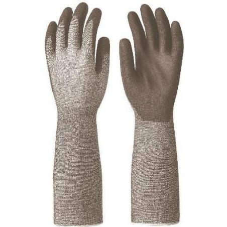 Lot de 10 paires de gants coupure 5 paume enduit PU noir