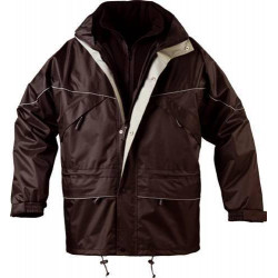 ISA parka de travail chaude polyester imperméable 3 en 1 avec veste polaire amovible