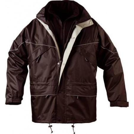ISA 3 en 1 parka de travail chaude polyester imperméable avec veste polaire amovible