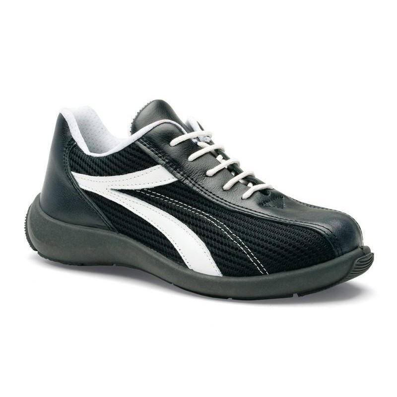 MAYA chaussure de sécurité cuir verpelle/ textile aéré S1P basse S 24