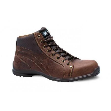 GLOBE chaussure de sécurité cuir fleur S1P haute S 24